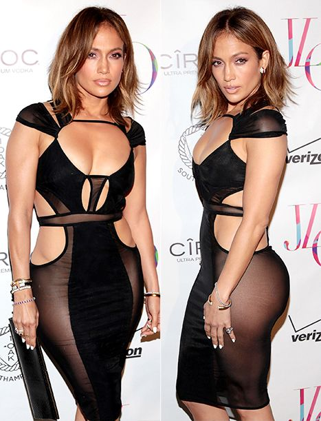 Jennifer Lopez Wears Most Revealing Dress Yet For 46th Birthday Bash Us Weekly