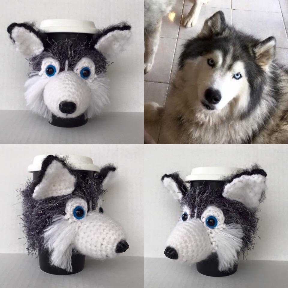 Custom Siberian Husky Mug Cozy. hookedbyangel.etsy.com | misc items ...