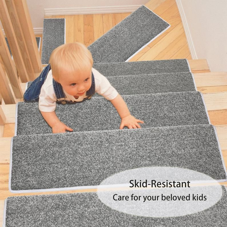 Pure Era Carpet Stair Treads Set Non Slip Self Adhesive Animal Friendly Interior Stair Protec In 2020 Carpet Stair Treads Carpet Stairs Stair Treads