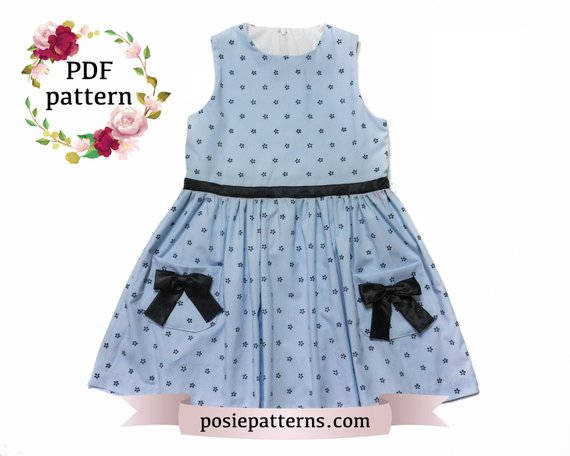 b4c81b8fc63b6 DAISY DRESS - Summer Dress children kids pattern PDF Sewing pattern ...