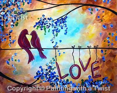 Public Event Love Song Single Mason Oh Painting Class Painting With A Twist Wine And Canvas Painting Painting Class