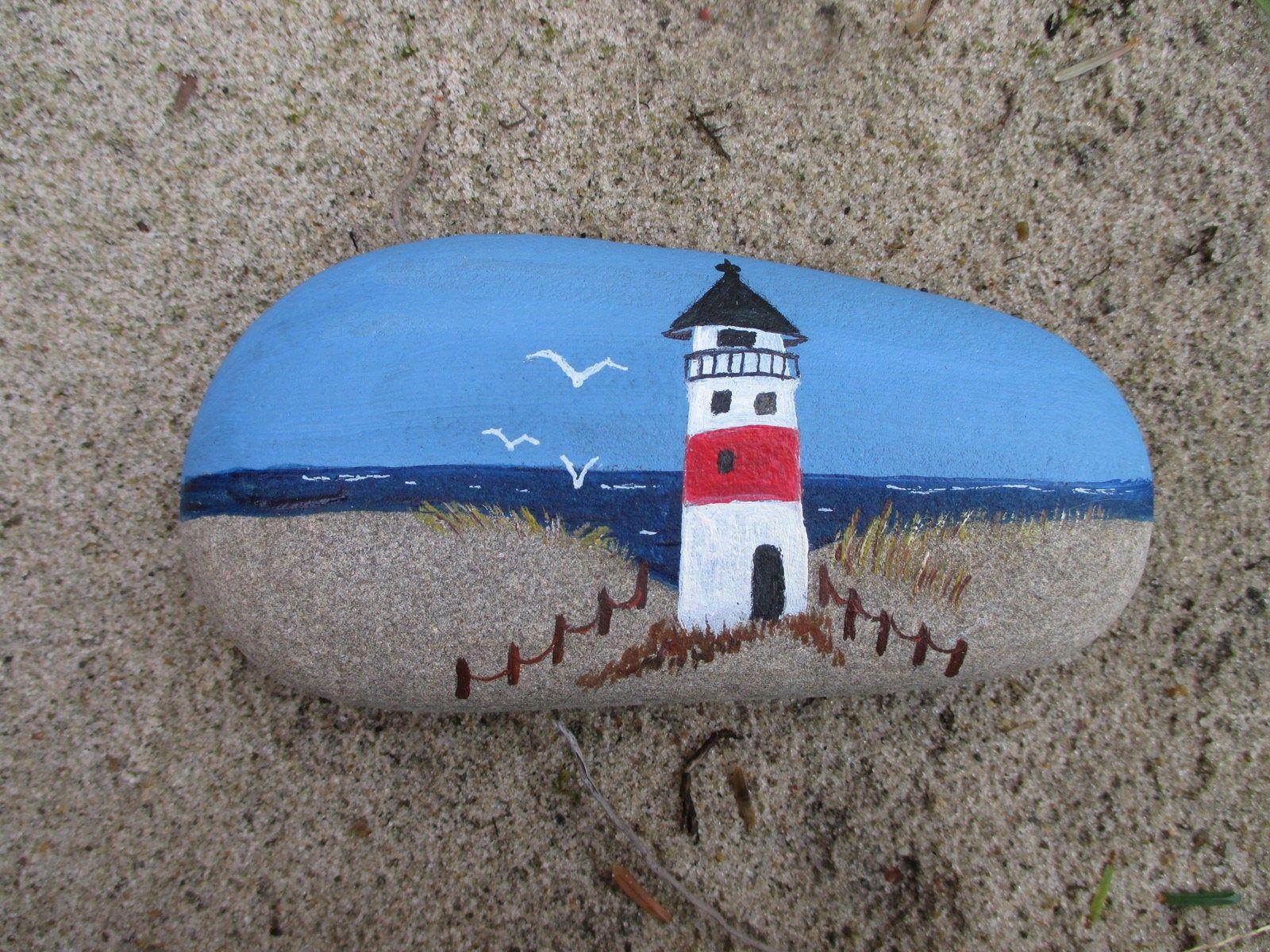 Dekostein Lighthouse on the beach