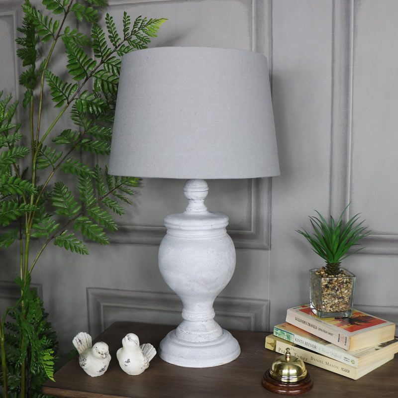 Rustic Antique White Table Lamp With Images White Table Lamp Table Lamp Wood Antique Table Lamps