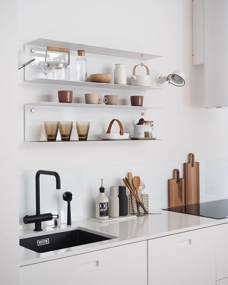 Kitchen Shelf Inspiration: Open Kitchen Shelves Styling Inspiration In 2019