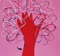 Valentine tree using toilet paper tube