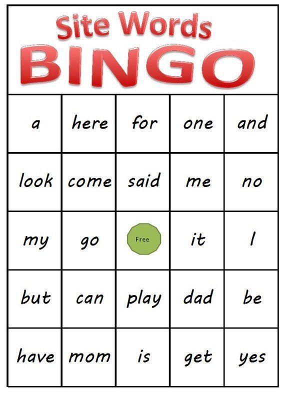 Kindergarten Sight Word Bingo - Printable Download | Sight ...