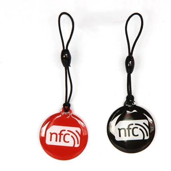 Programmable Small NFC Epoxy keyfobs tag/Smart crystal card