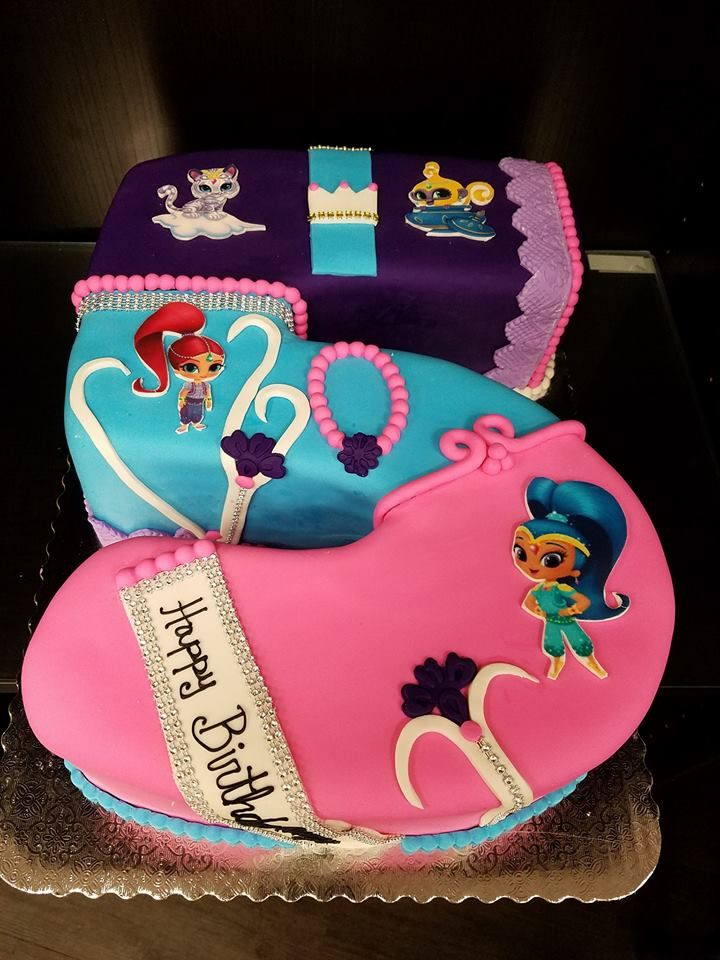 Shimmer And Shine Cake Character Cakes Shimmer Shine