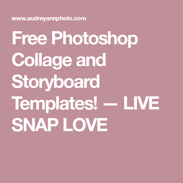 Free Photoshop Collage And Storyboard Templates Free Photoshop