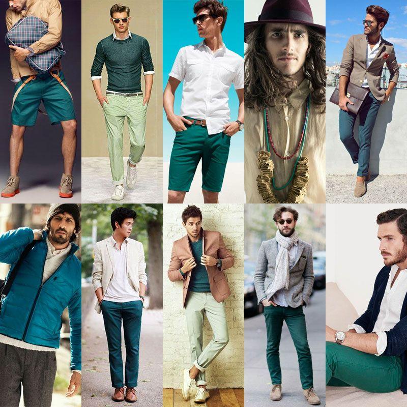 SS16 Men's Fashion Teal Color Trend