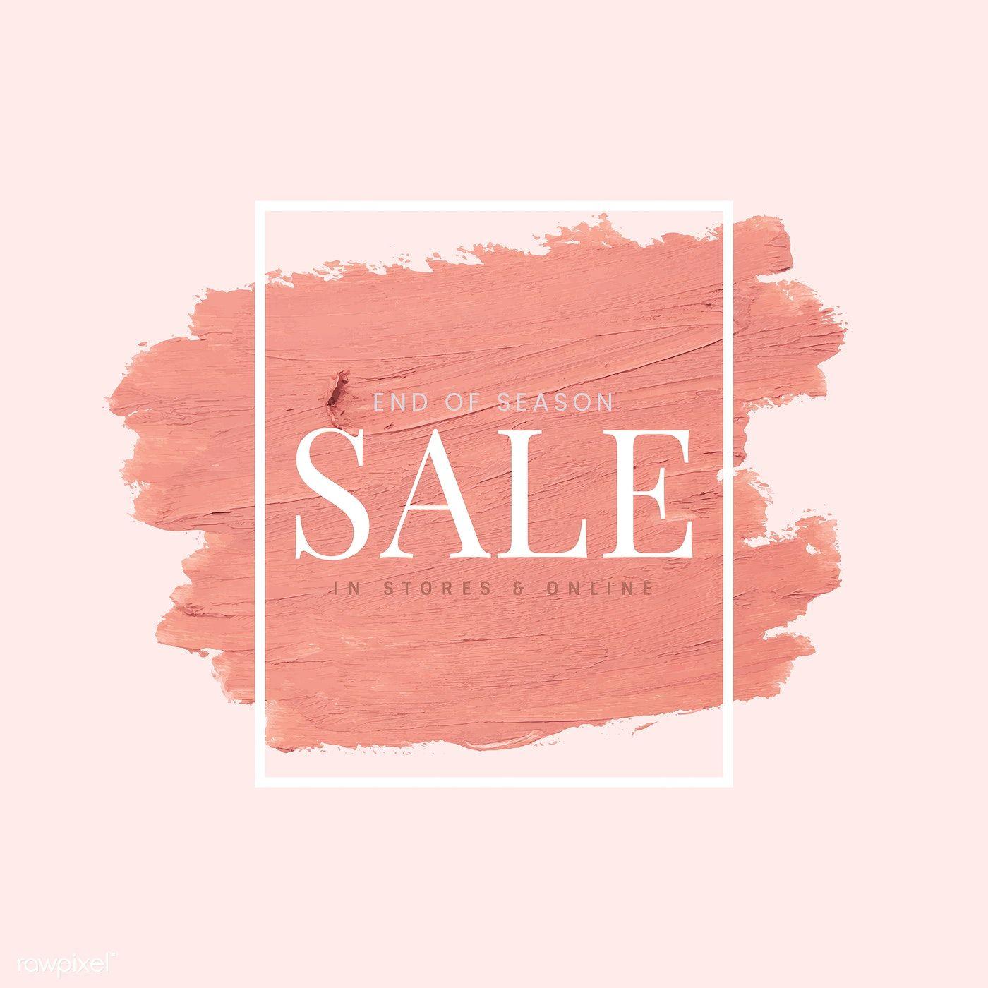 Download Premium Vector Of End Of Season Sale Vector 552267 Promotional Design Sale Poster Photo Frame Design
