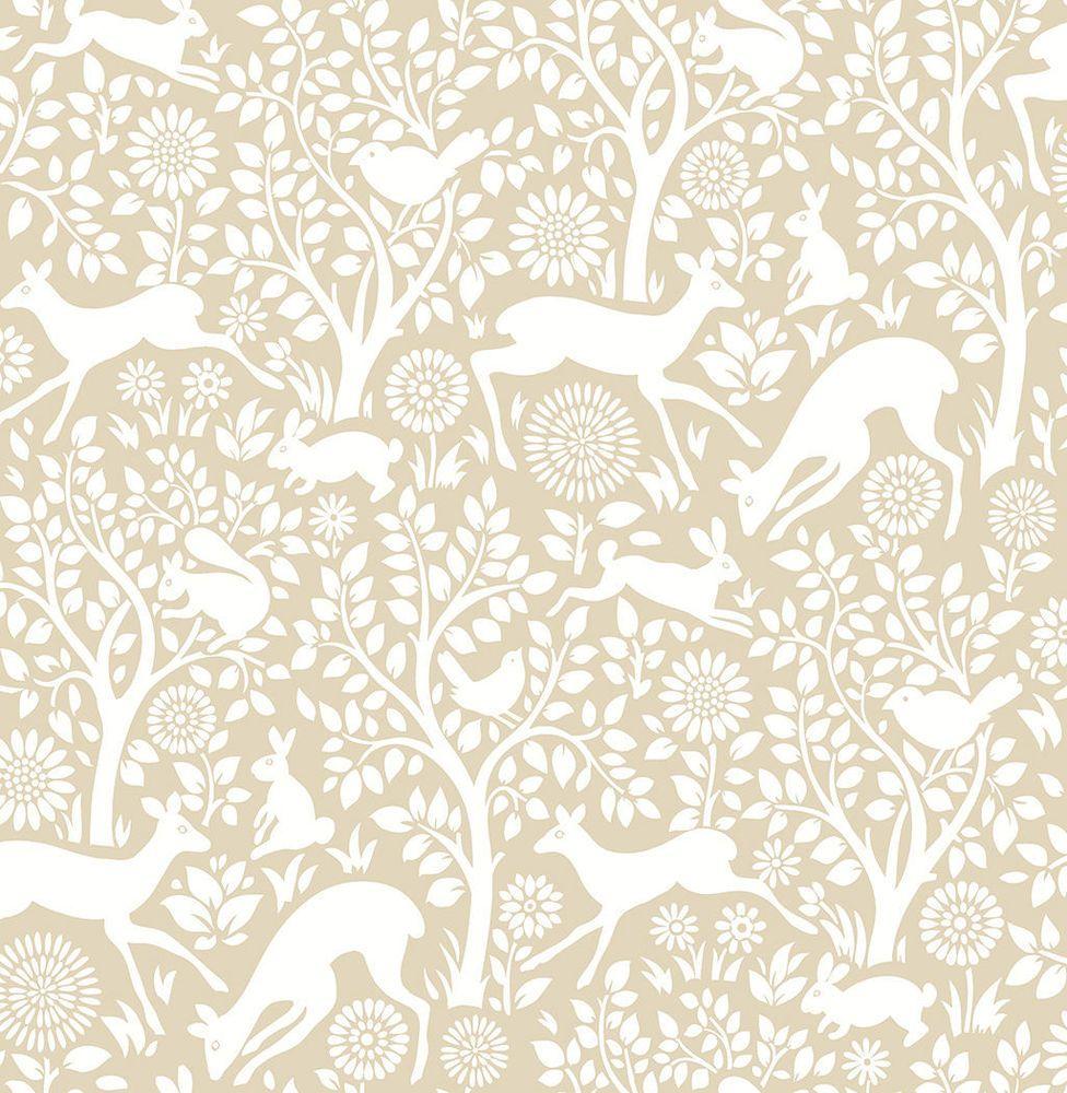 Woodland Meadow Wallpaper A Street Prints Non Woven Beige White
