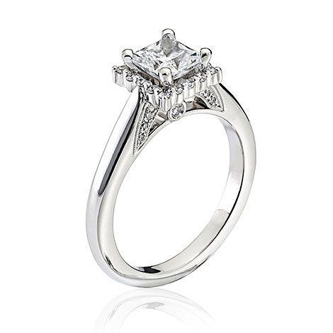 Interesting princess halo.  Scott Kay, Parisi, bridal, Ladies Bridal : Engagement Styles, M2015R310