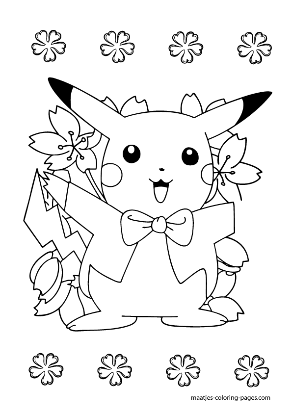 pikatchu colouring pages to print enjoy coloring