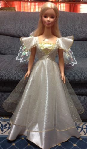 Huge Life Size My Size Barbie Doll 38 Angel Barbie Original Outfit