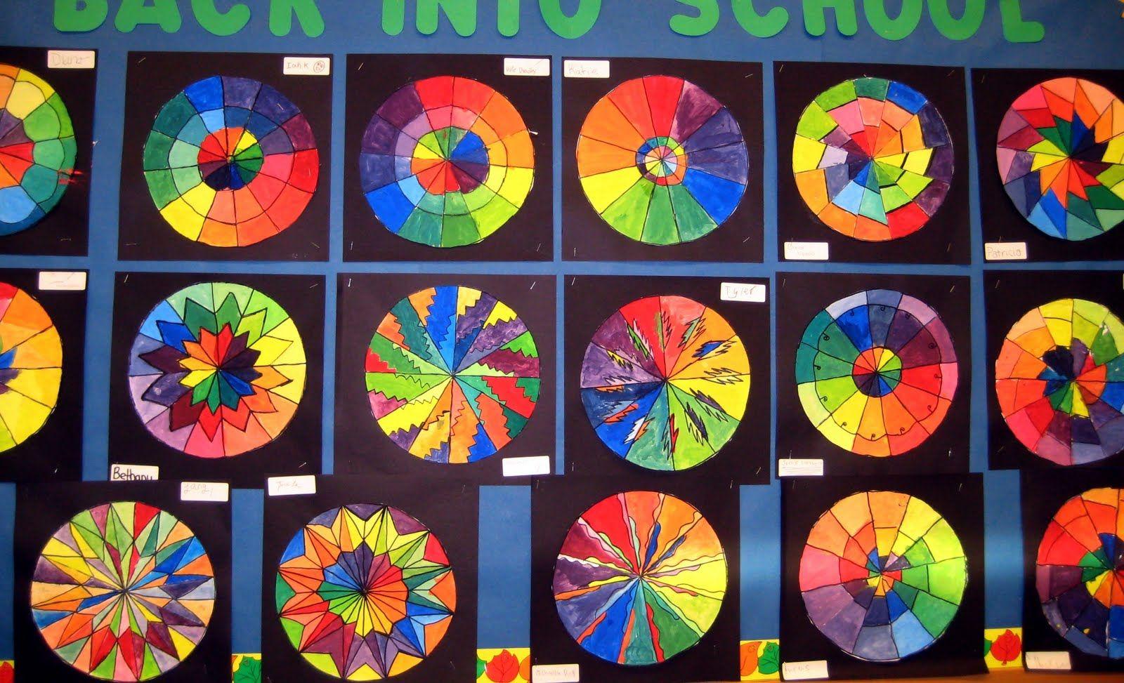 Картинки цветового круга для художественной школы