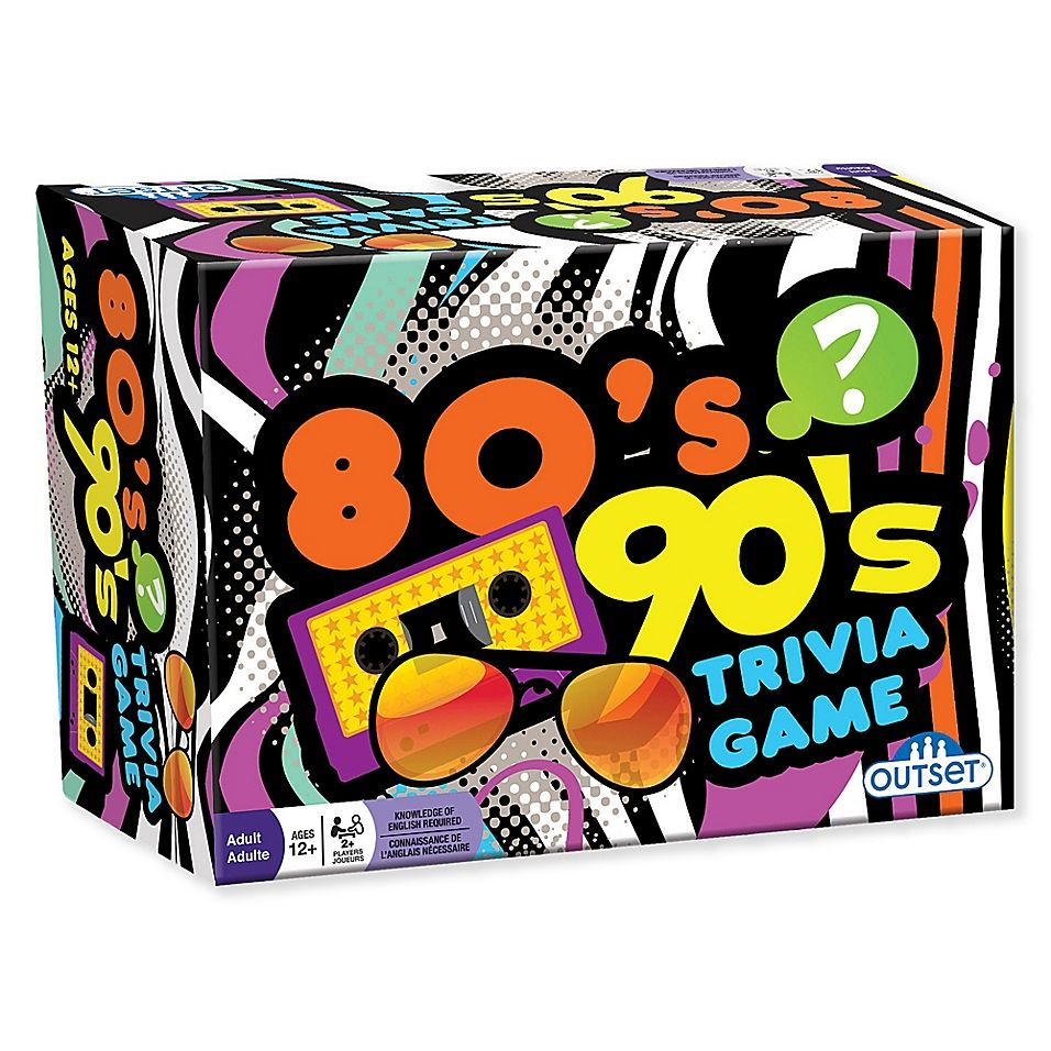 Outset Media 80's 90's Trivia Game in 2020 Trivia games