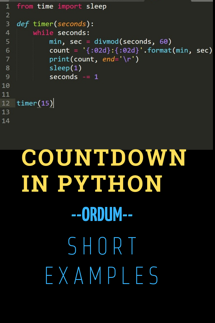 python #programming #code #coding #countdown #timer | Short