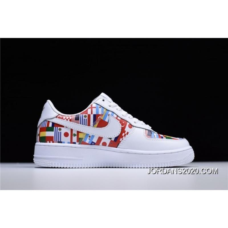 "f4eff91d57 2020 New Release Nike Air Force 1 Low ""International Flags""  White/Multi-Color Men's And Women's Size, Price: $88.12 - Air Jordan Shoes  2020, Michael Jordan ..."
