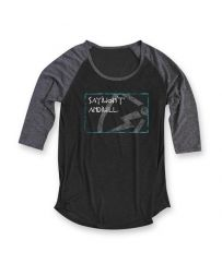 Say I Won't® Ladies' Raglan Boxed 3/4 Tee