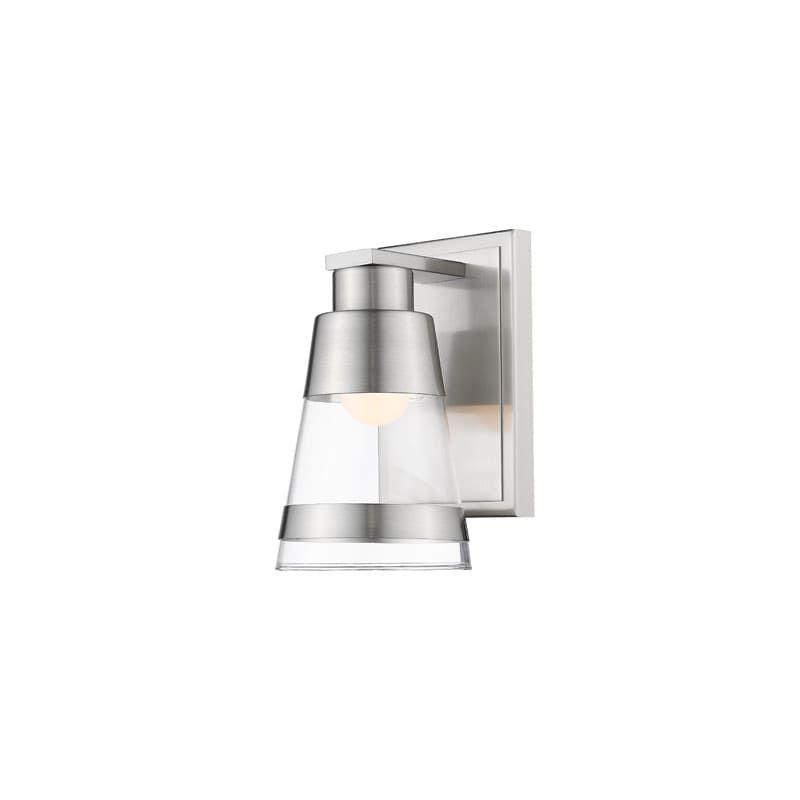 Photo of Z-Lite 1921-1S-LED Ethos Single Light 4-11/16″ Wide Integrated LED Bathroom Scon Brushed Nickel Indoor Lighting Bathroom Fixtures Bathroom Sconce