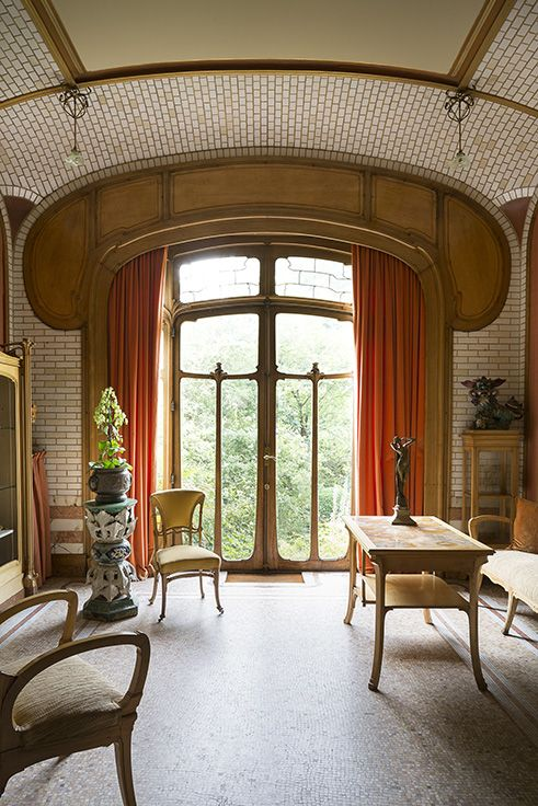 Art Nouveau Art Deco An Architectural Odyssey Com Imagens Art Deco Mobiliario Art Nouveau Interiores Art Deco