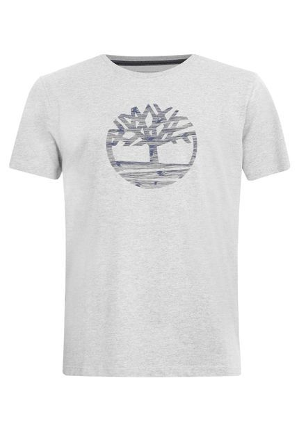 Camiseta Timberland Logo Free Cinza - Compre Agora   Dafiti Brasil ... bf293d42d3