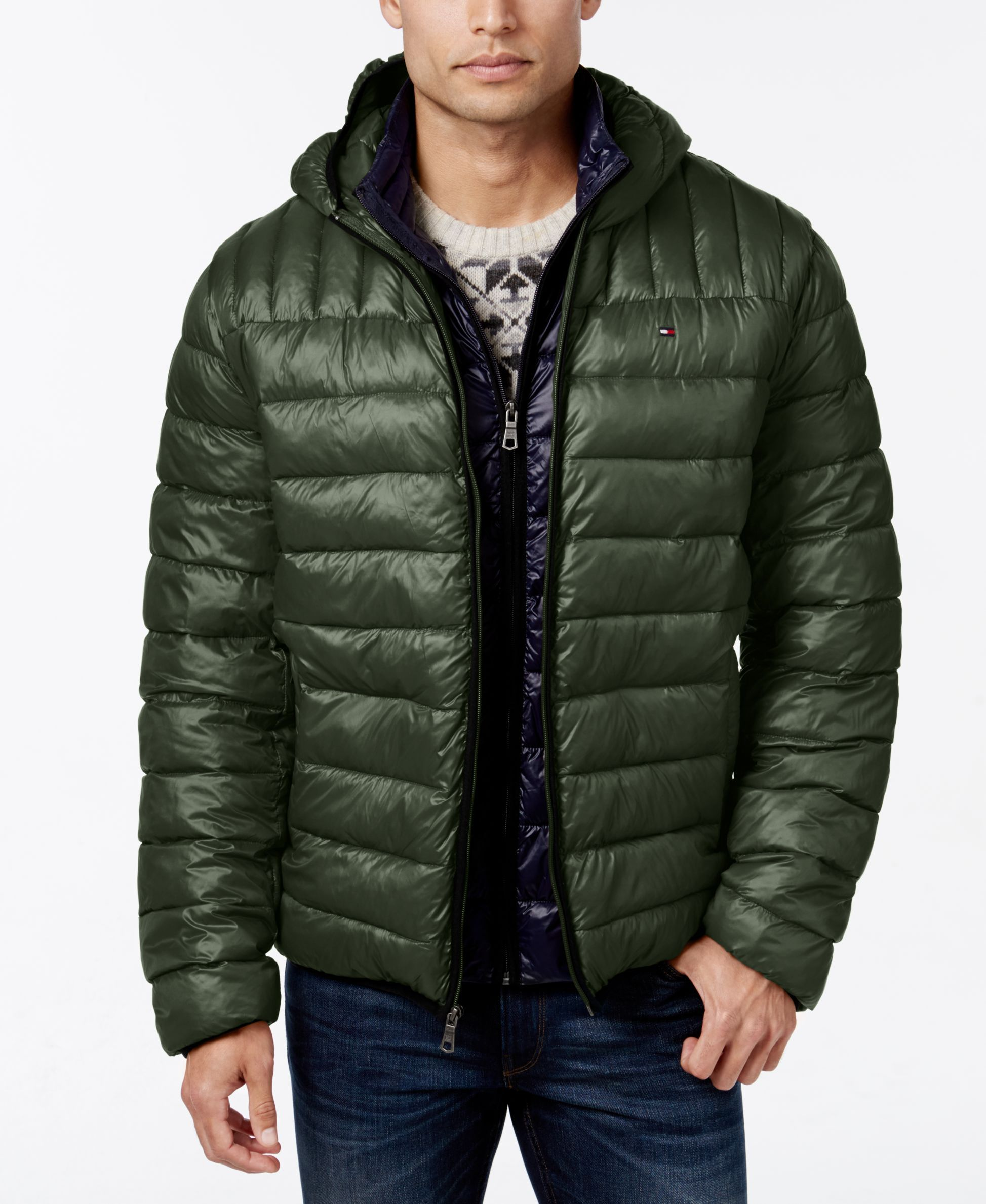 Tommy Hilfiger Hooded Packable Jacket | Products | Pinterest ...
