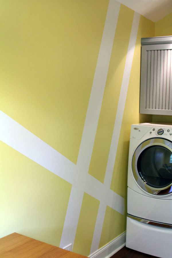 Geometric Wall Mural Laundry Room Makeover Elegant Laundry Room Laundry Room Paint Color Laundry Room Makeover