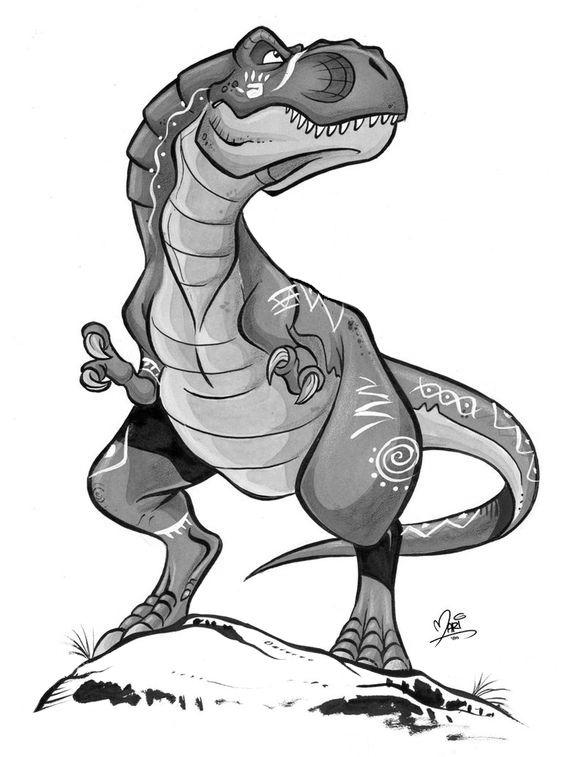 T-Rex - Mariana Moreno | Dibujo de dinosaurio, Dibujos de ...