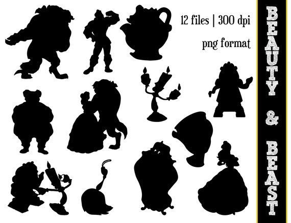 Beauty And The Beast Disney Silhouette Clip Art Clipart