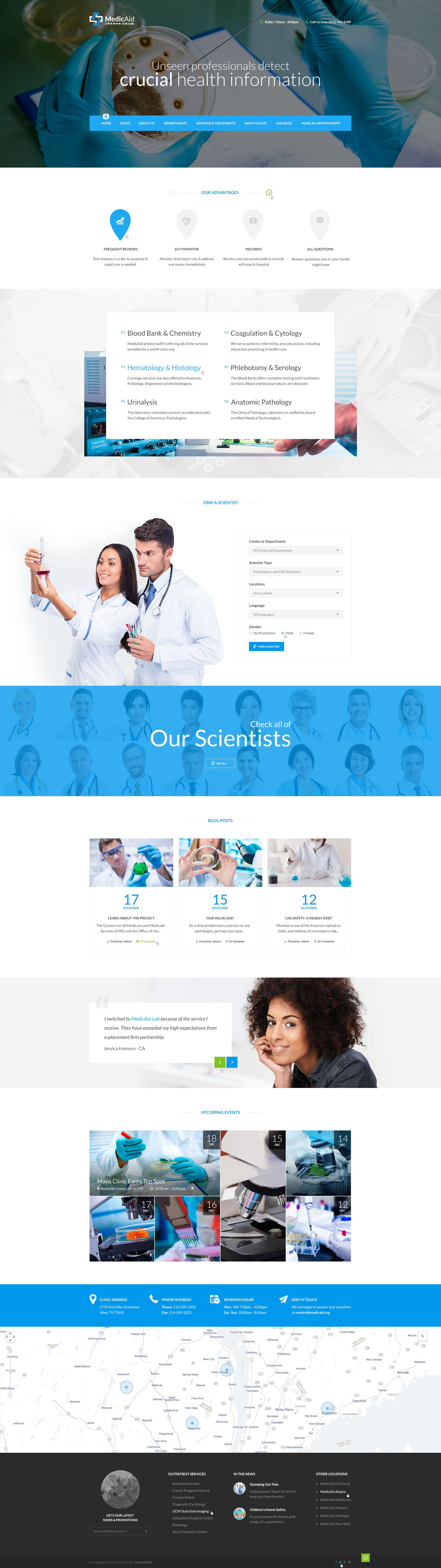MedicAid Medical PSD Template (con imágenes) Website