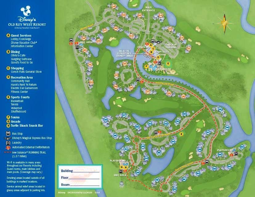 Map Disney s Old Key West Resort. Review  Disney s Old Key West Resort   Key west resorts  Key west
