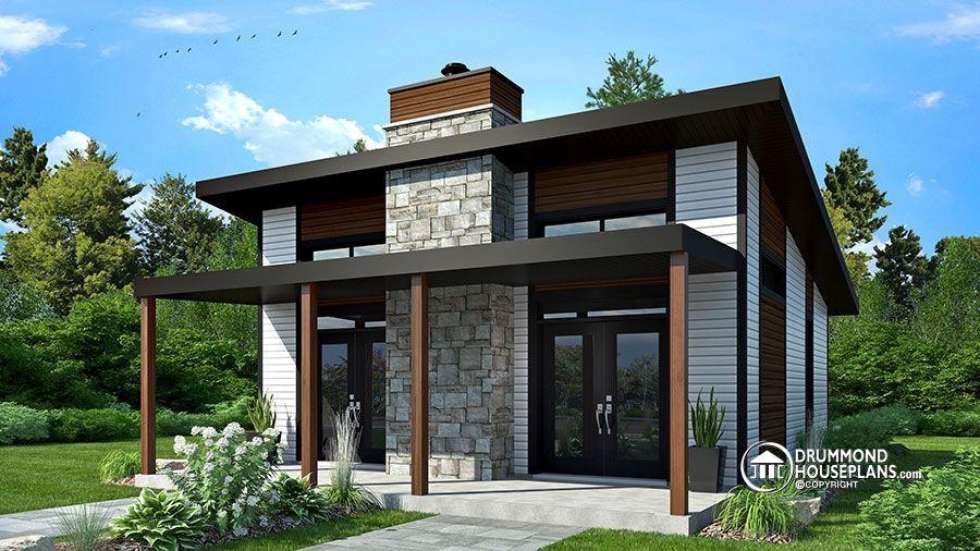 House Plan Bonzai No 1909 Bh Small Modern Cabin Contemporary
