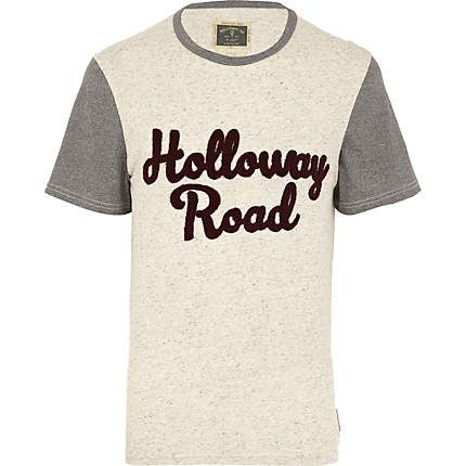 Ecru Holloway Road colour block t-shirt - print t-shirts - t-shirts / vests - men