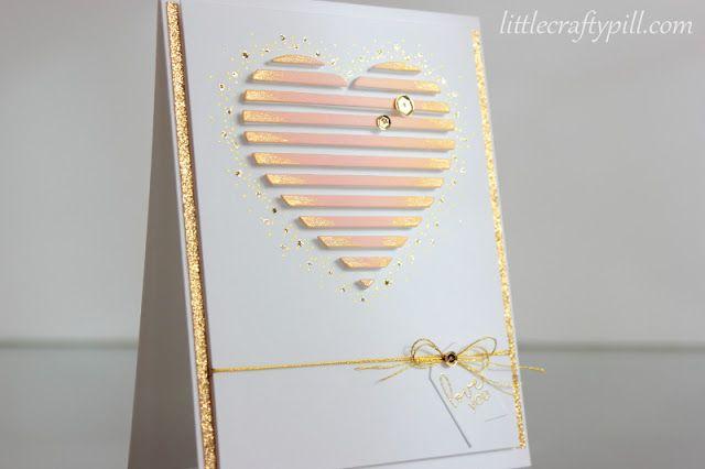 Valentine's card: Dimensional heart #concordand9th #mamaelephant