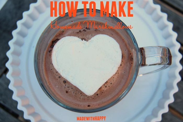 How to make homemade marshmallows | Fun and HAPPY large marshmallows, perfect for a hot cup of cocoa! | You Melt My Heart Valentines Free Printable | Marshmallow Valentines