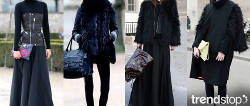Fall Winter 2014-15, Dark Daywear Elegance a key trend theme, women's apparel and accessories, streetstyle 2