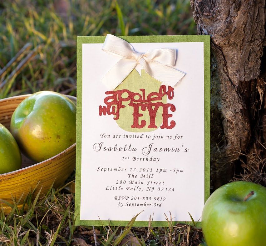 Baby Shower Invitation  Apple of my Eye with by EmbellishedPaper, $2.50