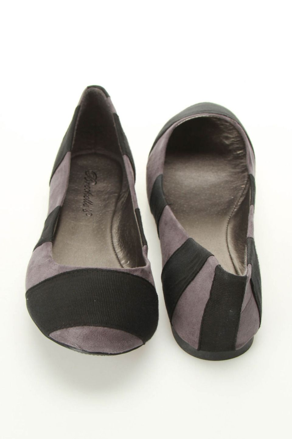 Erika 11 Striped Ballet Flats In Black - Beyond the Rack