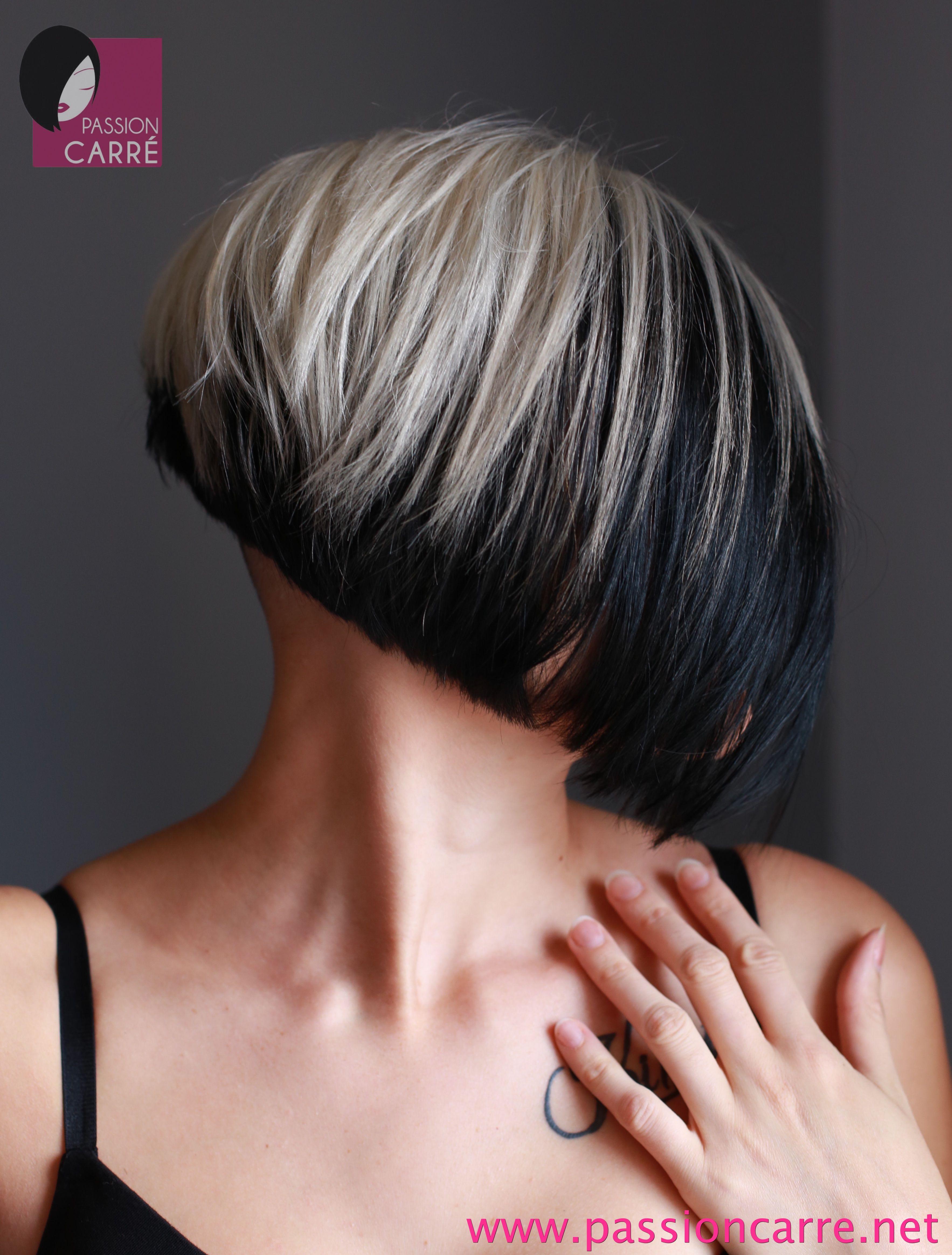 elodie songe changer de style de coiffure passion carr two toned hair 2 pinterest. Black Bedroom Furniture Sets. Home Design Ideas