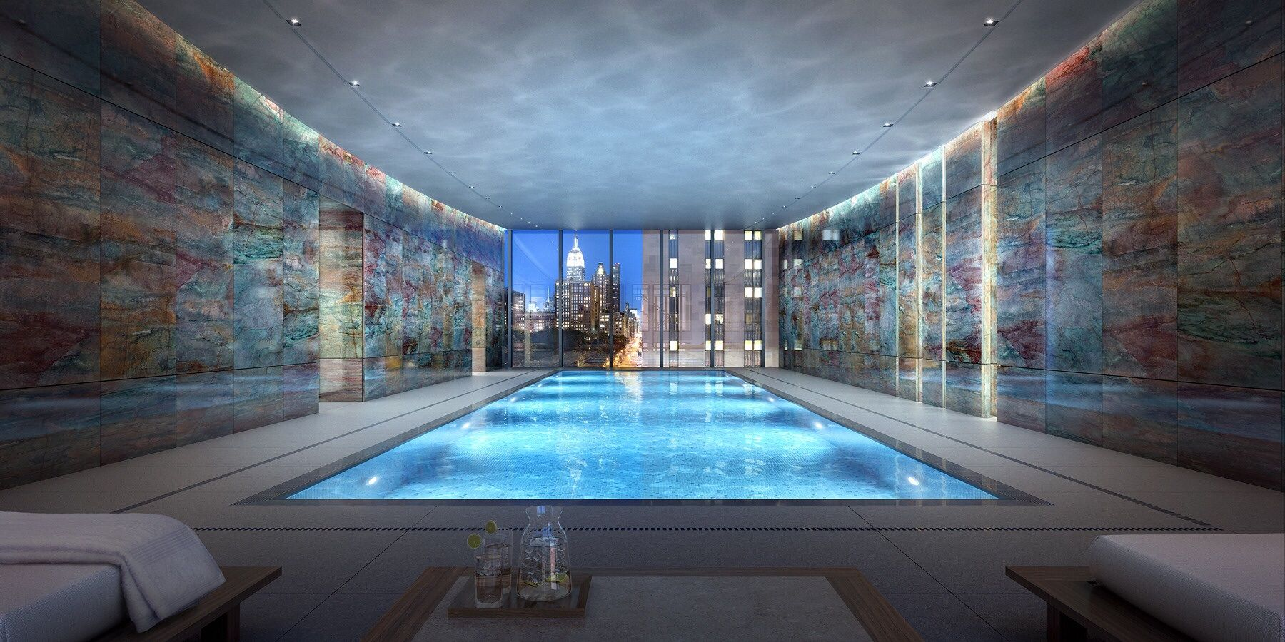 The Private Indoor Pool Room In Rupert Murdoch S New 57m Dollar Ny Penthouse Blarg 1800x900 New York Penthouse New York Condos Luxury Penthouse