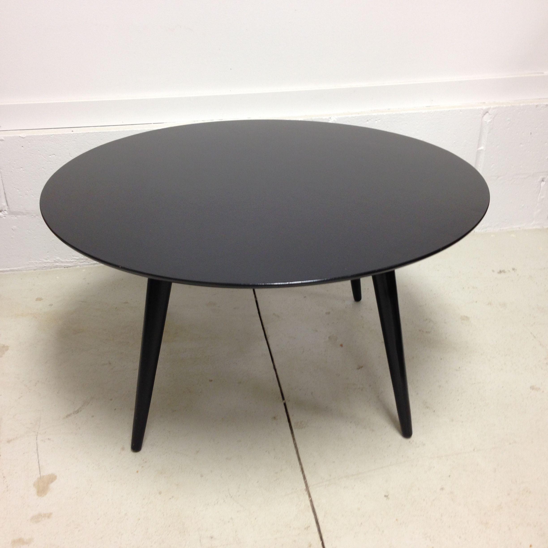 Black Round Coffee Table What The Vintage Toronto