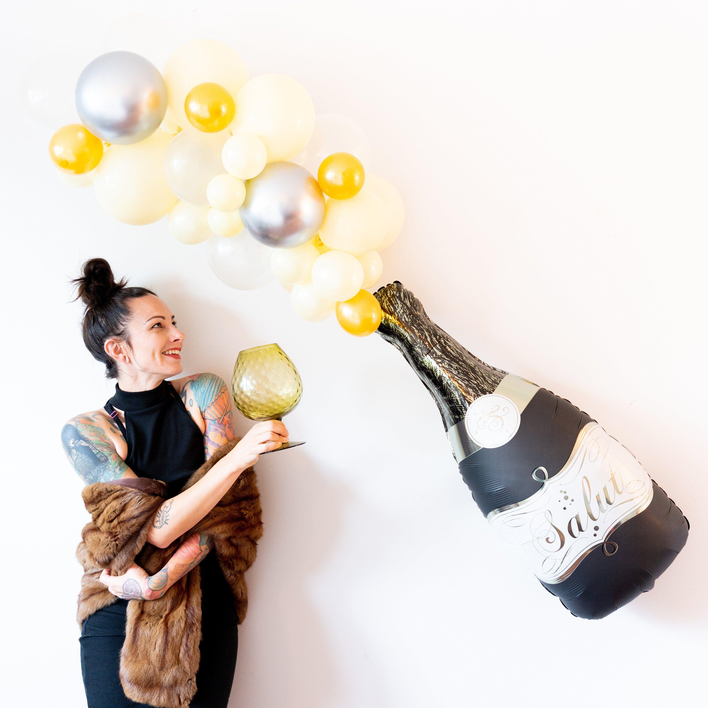 Champagne Balloon Garland Kit - New Years Eve Decor ...