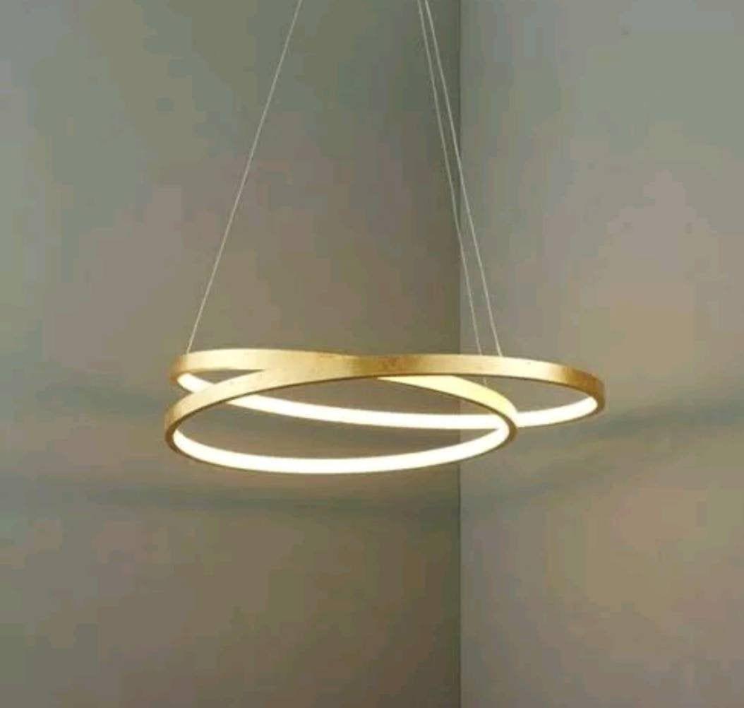 Luxury ITALIAN GOLD Ring Crystal LED Light Chandelier ...