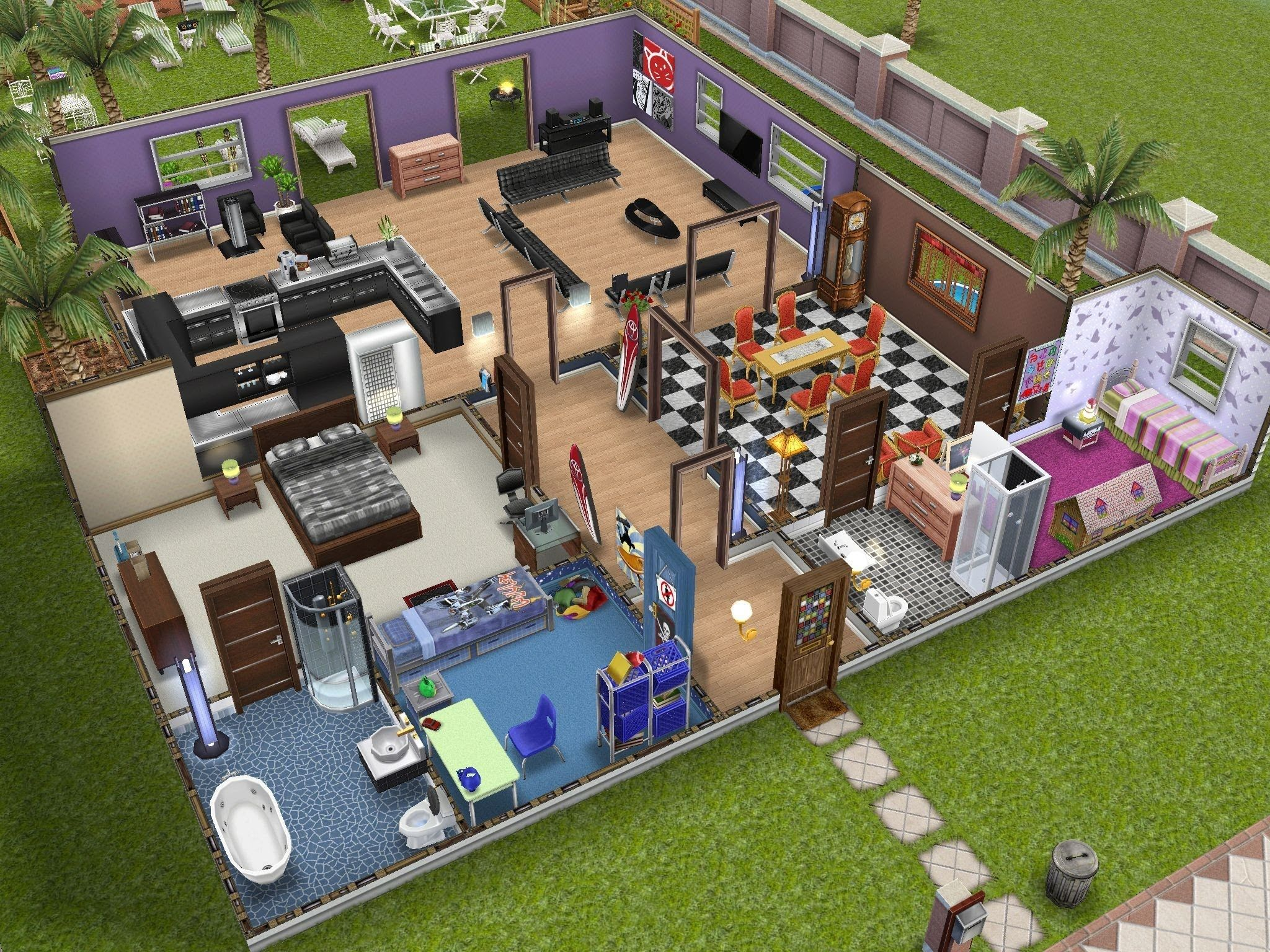 97 best Sims Freeplay Homes images on Pinterest House ideas