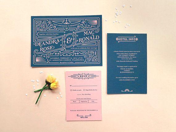Love there red black digital wedding invitation set with digital wedding invitation set with rsvp art deco vintage inspired diy wedding printable files dee mac stopboris Images