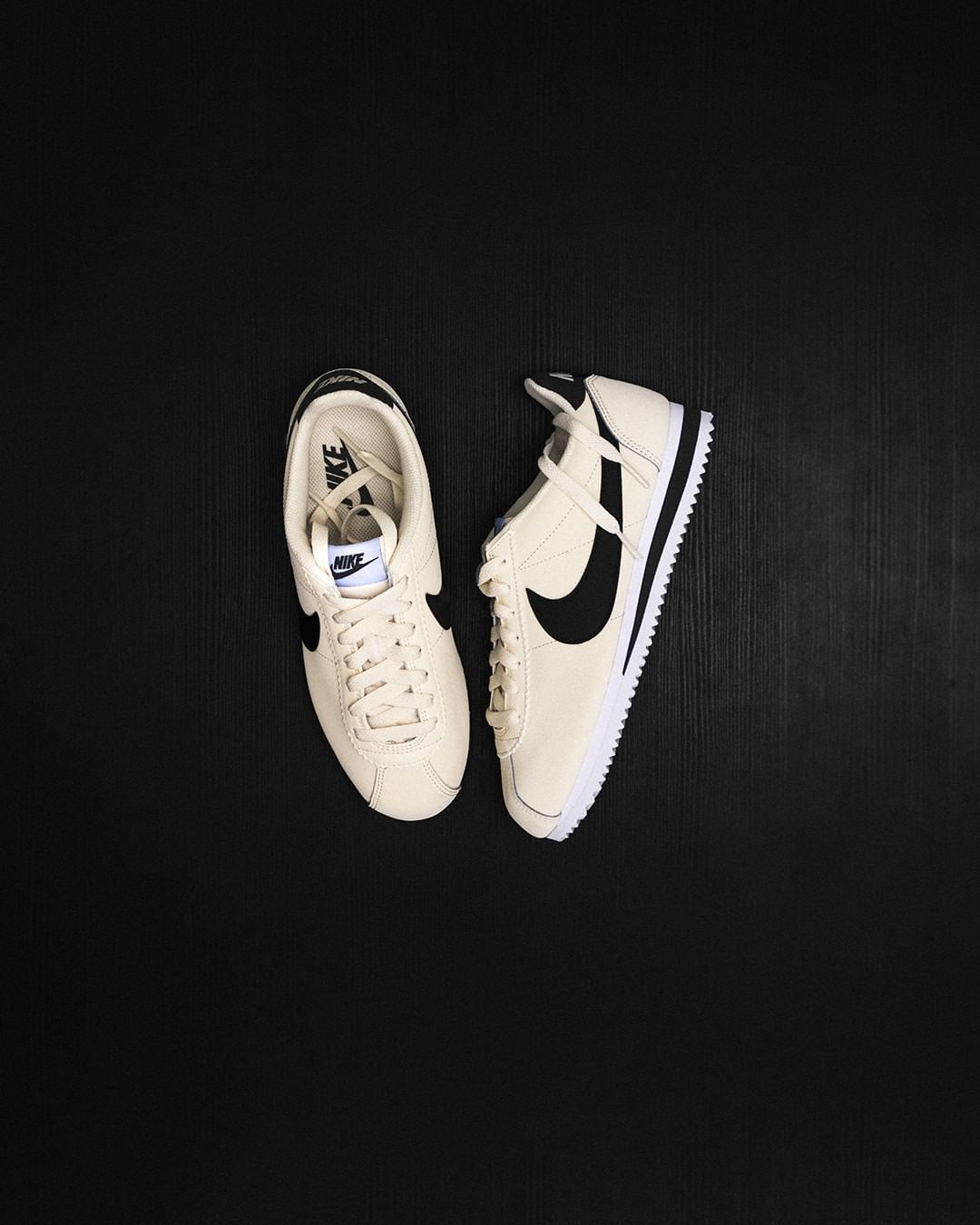 v creamy. #grailshop Nike Classic Cortez Leather in Pale