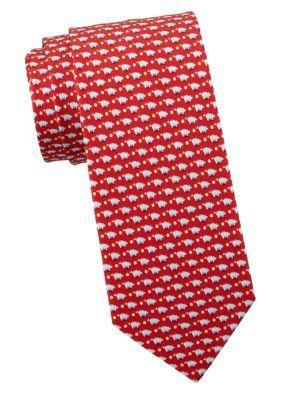 SALVATORE FERRAGAMO Silk Piggie Bank Print Tie.  salvatoreferragamo Gravata,  Salvatore Ferragamo 70474ea14a