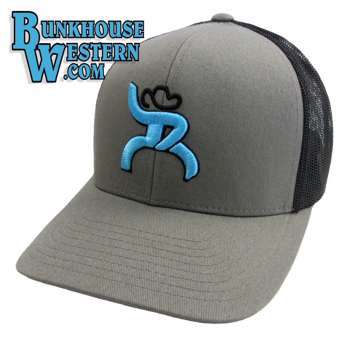 new style 4f5a6 7316d ... good roughy chaparral trucker cap by hooey turquoise roughy man gray  and black 6b94b 0178e